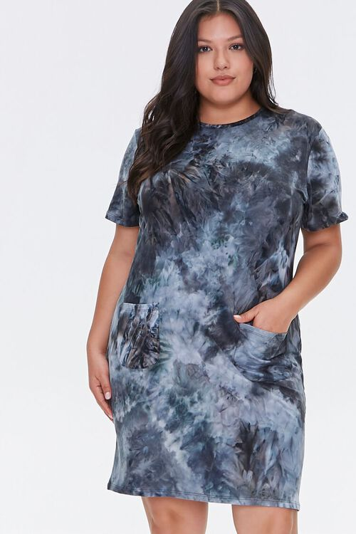 Plus Size Tie-Dye T-Shirt Dress, image 2