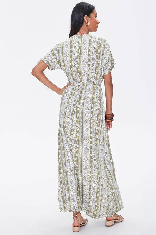 Plunging Floral Maxi Dress, image 3