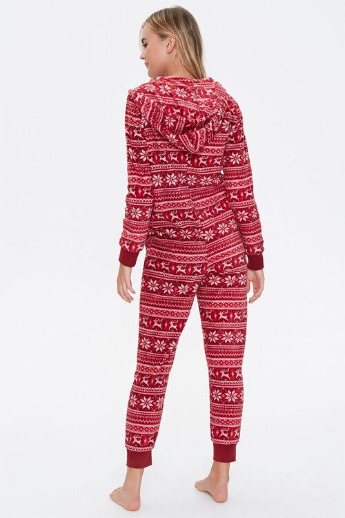 Fair Isle Hooded Pajama Jumpsuit, image 3