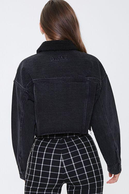 Fleece-Collar Denim Jacket, image 3
