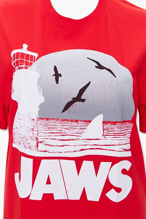 RED/MULTI Plus Size Jaws Graphic Tee, image 3