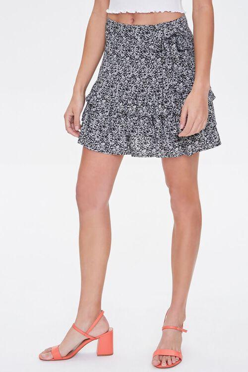 Floral Tiered Flounce-Hem Skirt, image 2
