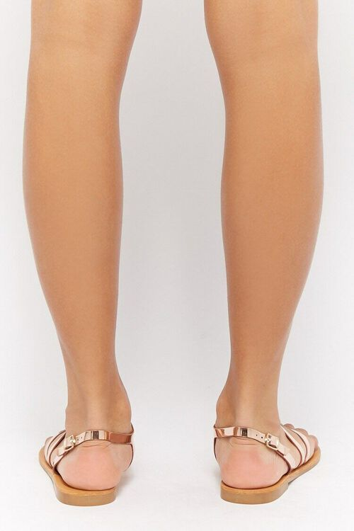 Metallic Flat Sandals, image 4