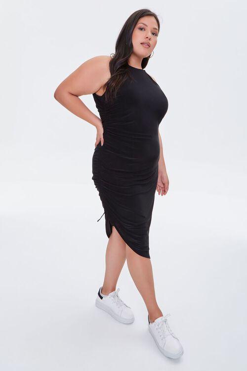 Plus Size Ruched Drawstring Dress, image 4