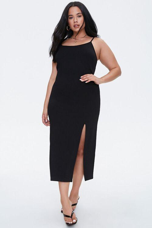 Plus Size Slit Bodycon Dress, image 4