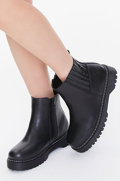 Faux Leather Chelsea Boots, image 5
