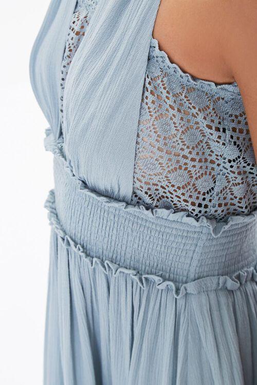 Halter Ruffle-Trim Mini Dress, image 5