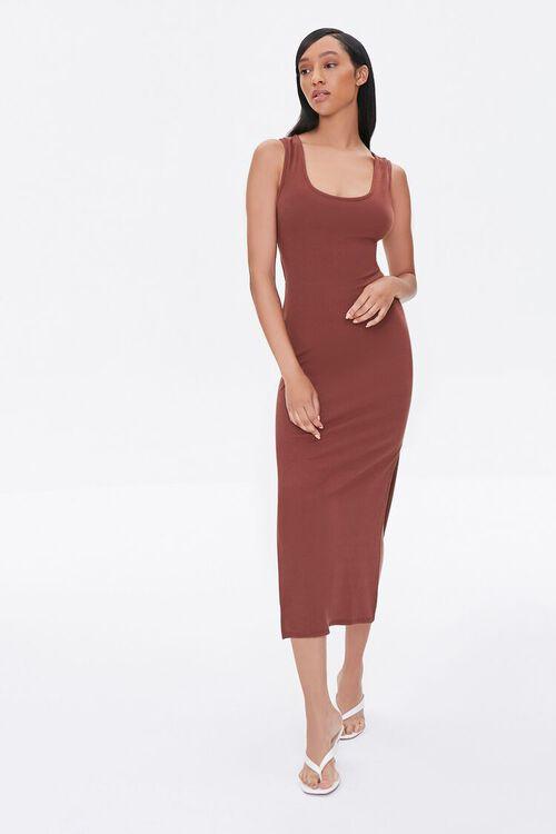 Self-Tie Cutout Midi Dress, image 1