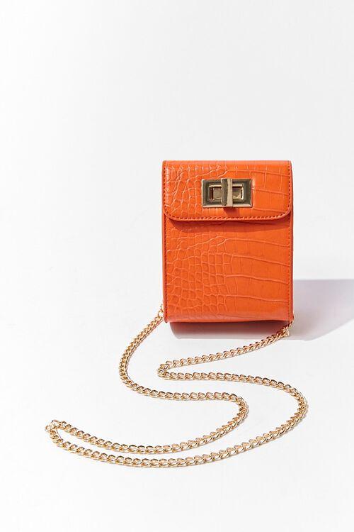 Faux Croc Leather Crossbody Bag, image 4