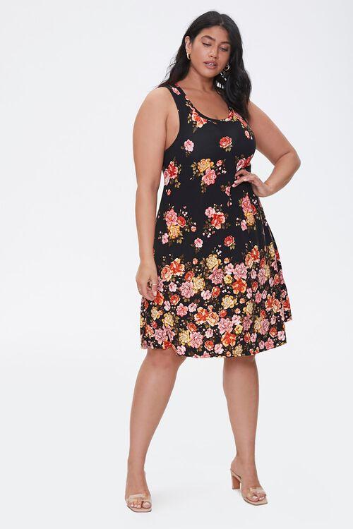 Plus Size Floral Print Dress, image 4