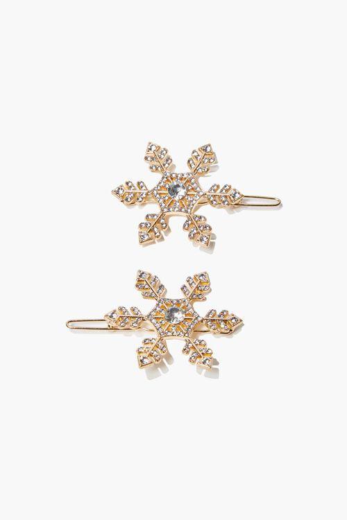 GOLD Snowflake Hair Clip Set, image 1