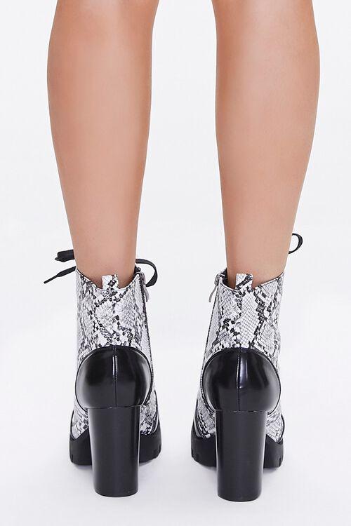 Faux Snakeskin Block Heel Boots, image 3