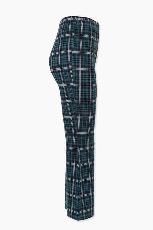HUNTER GREEN/MULTI Plaid Flare Ankle Pants, image 2