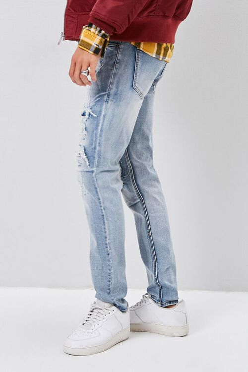 Bleached Distressed-Panel Jeans, image 3