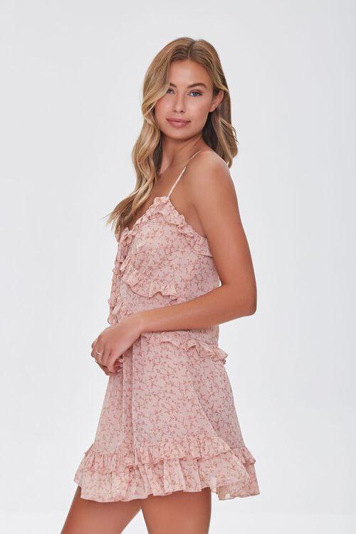 Ruffled Floral Print Mini Dress, image 2