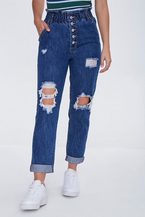 Distressed Paperbag Jeans, image 2