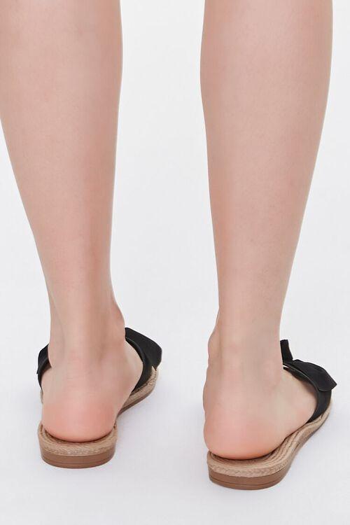 Faux Suede Bow Espadrille Sandals, image 3