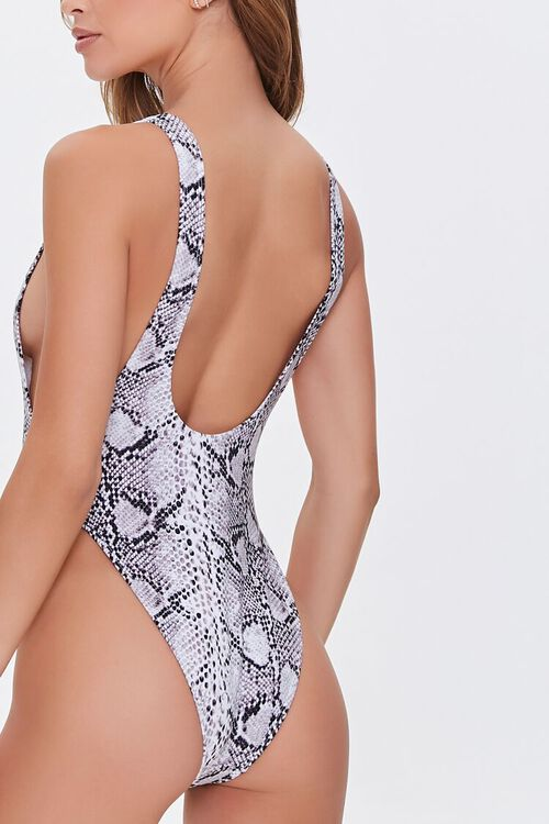 Snake Print One-Piece Swimsuit, image 3
