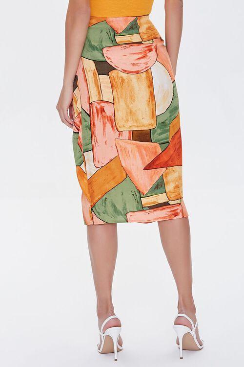 Abstract Geometric Print Skirt, image 4