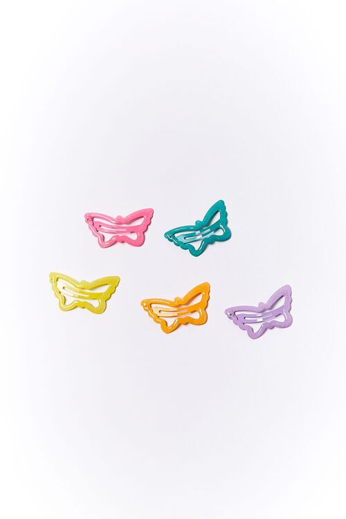Butterfly Snap Hair Clip Set, image 2