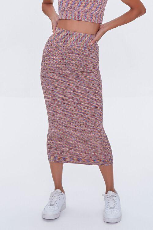 Heathered Crop Top & Skirt Set, image 5