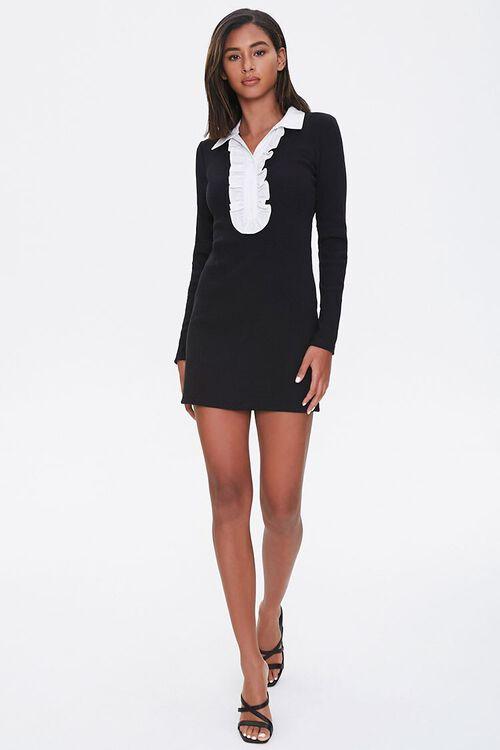 Ruffle-Trim Bodycon Dress, image 4