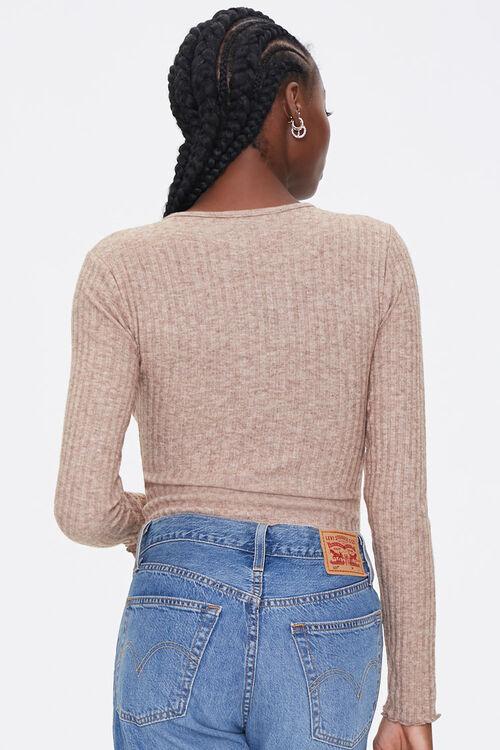 Ribbed Knit Long-Sleeve Bodysuit, image 3