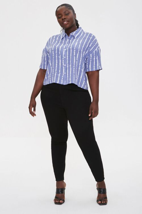Plus Size Abstract Striped Shirt, image 4