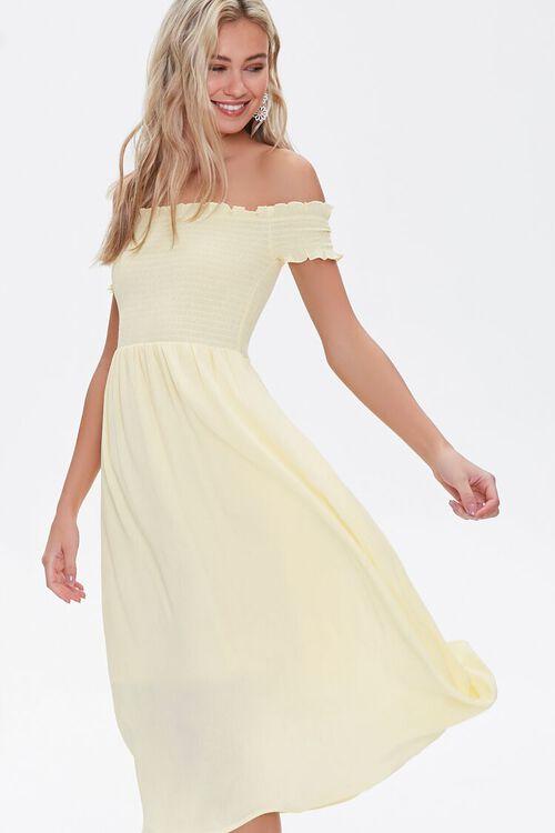 Forever21: Smocked Off-the-Shoulder Dress $16.60