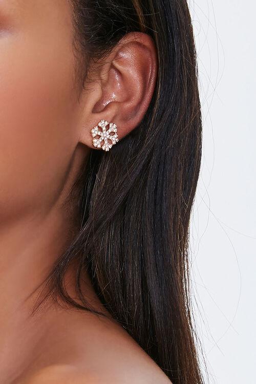 Snowflake Stud Earrings, image 1