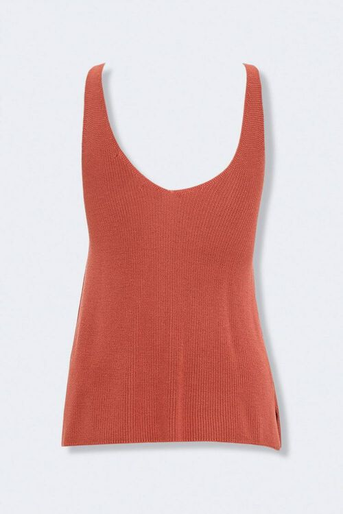 Vented Sweater-Knit Tank Top, image 3