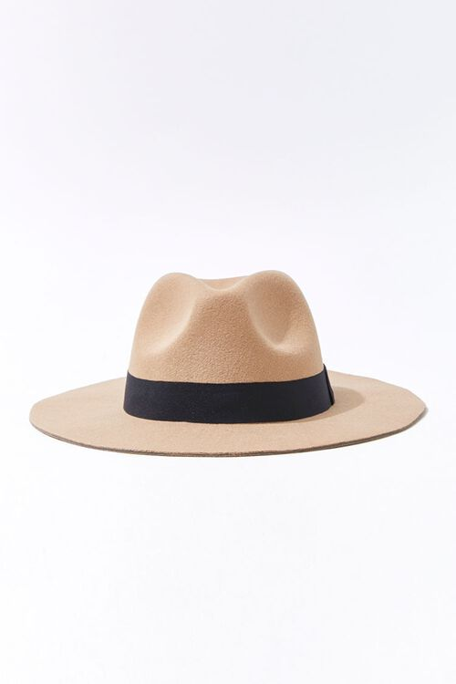 Faux Suede Contrast-Trim Fedora, image 1