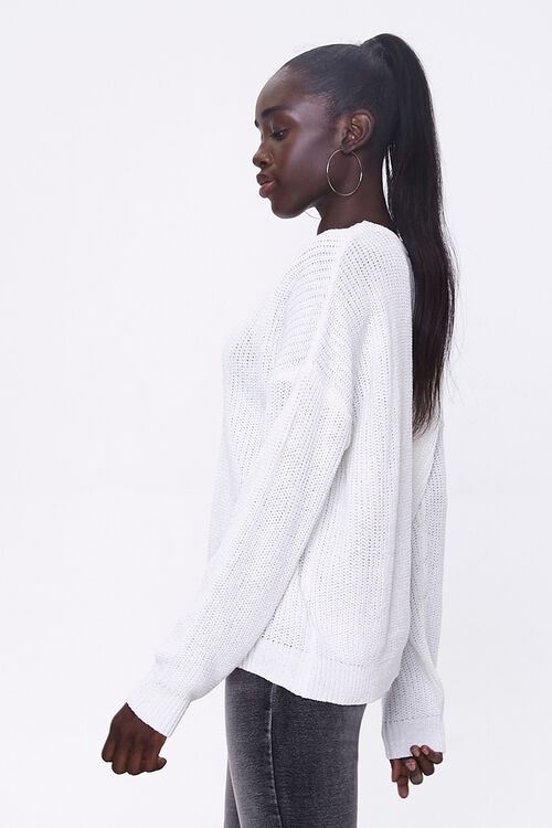 Ribbed Drop-Sleeve Sweater, image 2
