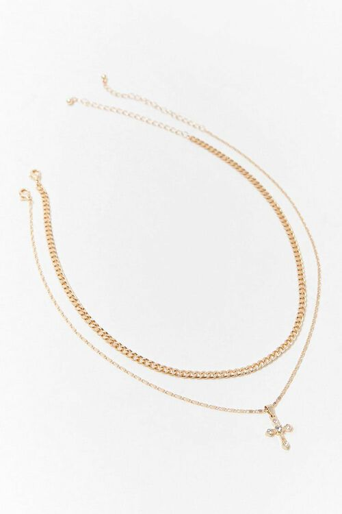 GOLD Chain Necklace Set, image 3