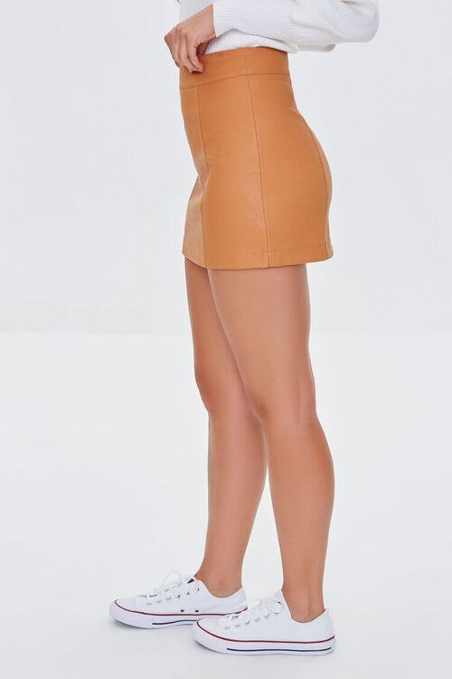 CAMEL Faux Leather Mini Skirt, image 3