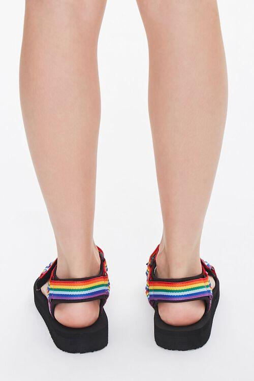 Rainbow-Striped Platform Sandals, image 3