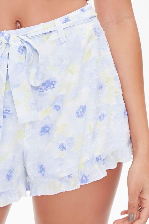 Floral Print Ruffle-Trim Shorts, image 6