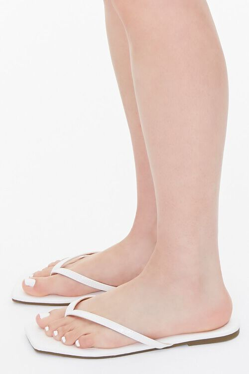 Faux Leather Toe-Thong Sandals, image 2
