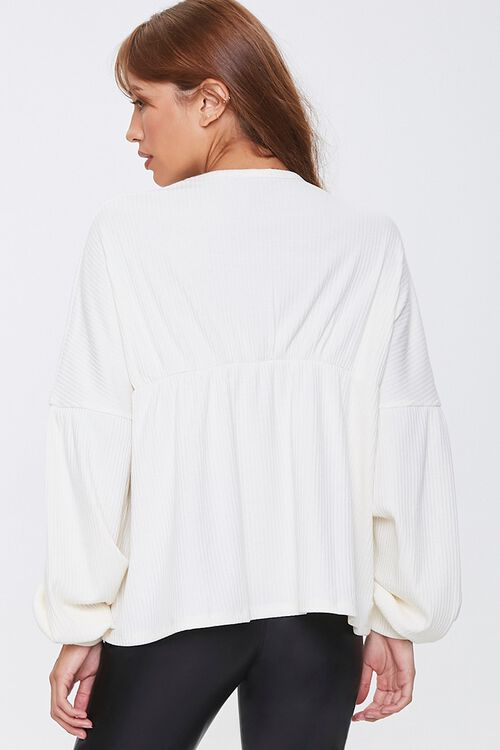 Ribbed Bell-Sleeve Top, image 3