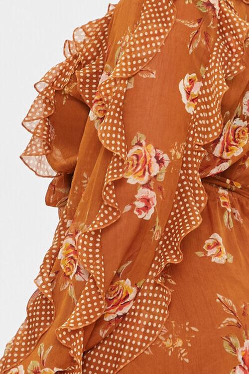 Plus Size Ruffled Rose Print Dress, image 5