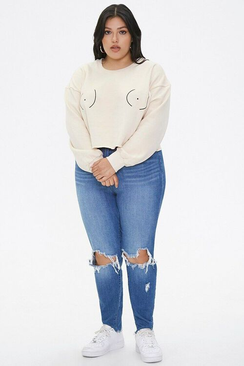Plus Size Stand Up To Cancer Graphic Pullover, image 4