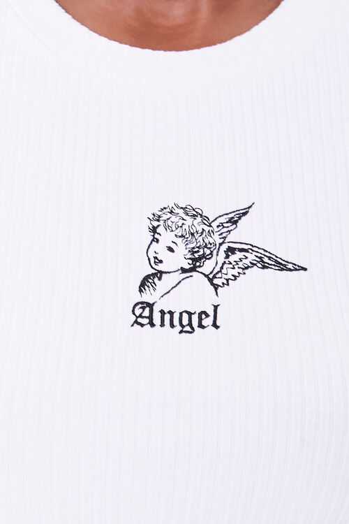 Cropped Angel Graphic Tee, image 5