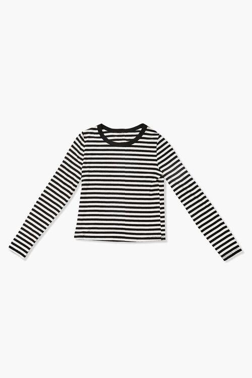 Girls Ribbed Striped Top (Kids), image 1