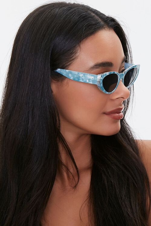Marbled Oval Sunglasses, image 2