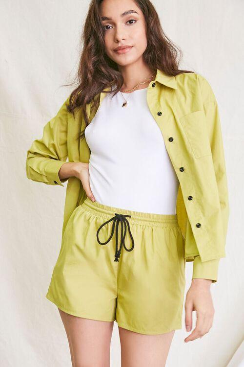 OLIVE Pocket Shirt & Drawstring Shorts Set, image 1
