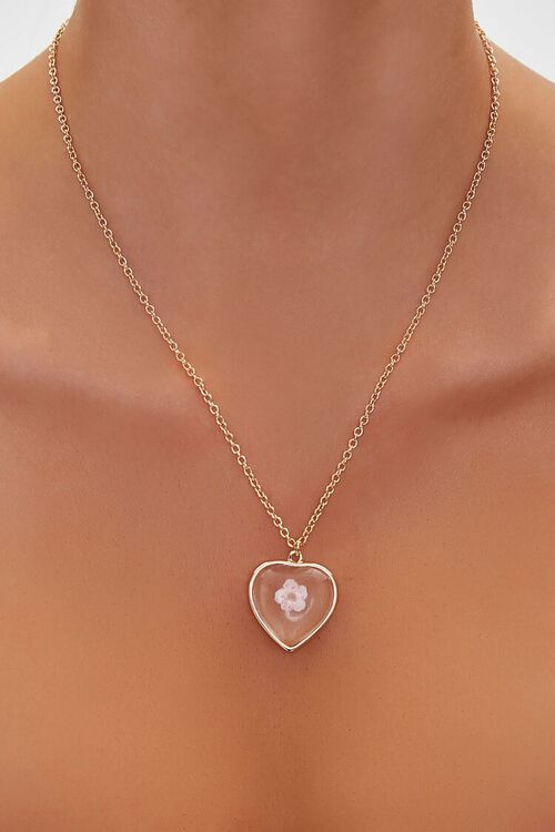 GOLD Heart Pendant Necklace, image 1