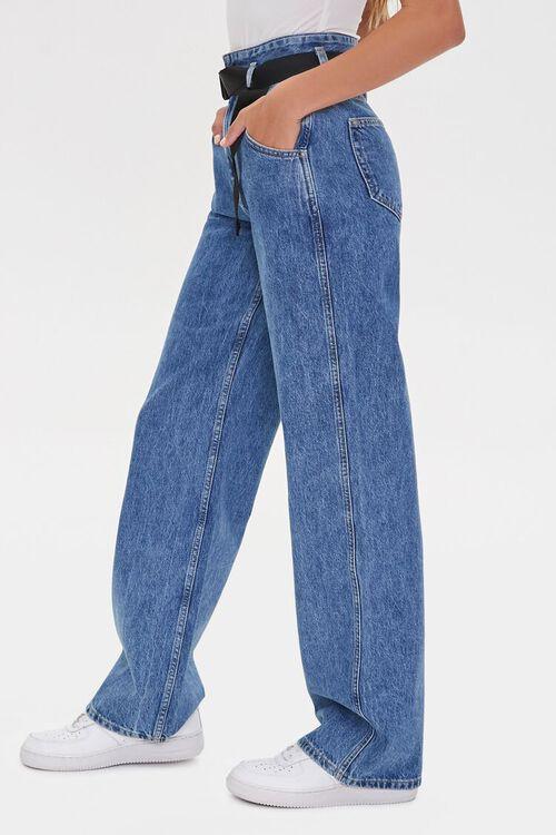 MEDIUM DENIM High-Rise Straight Jeans, image 3