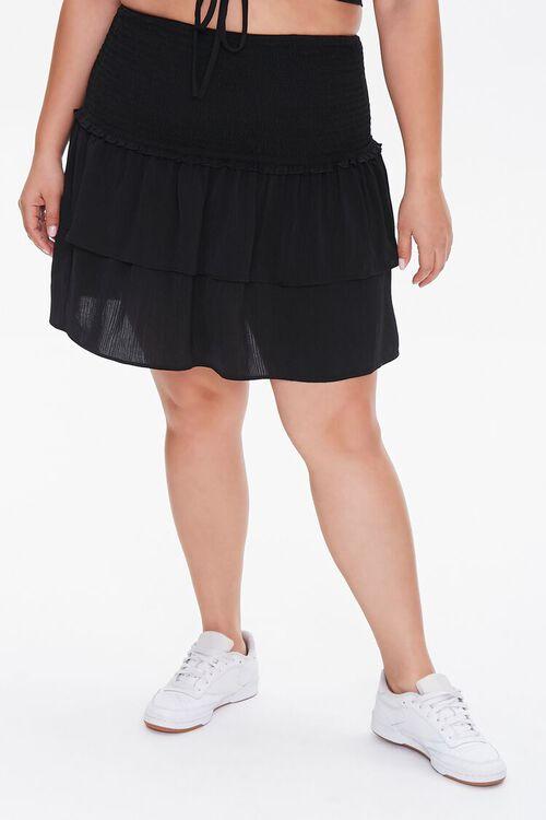 Plus Size Flounce Mini Skirt, image 2