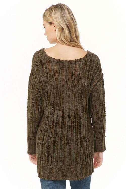 OLIVE V-Neck High-Low Sweater, image 3