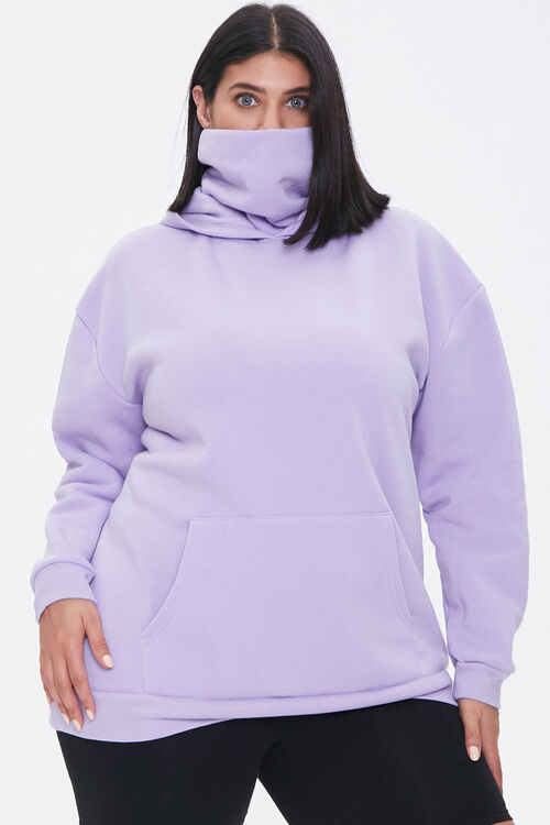 Plus Size Face Mask Hoodie, image 5